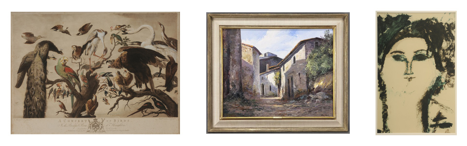 Concert of Birds 1778, Jose Vives-Atsara, 45 Drawings by Modigliani