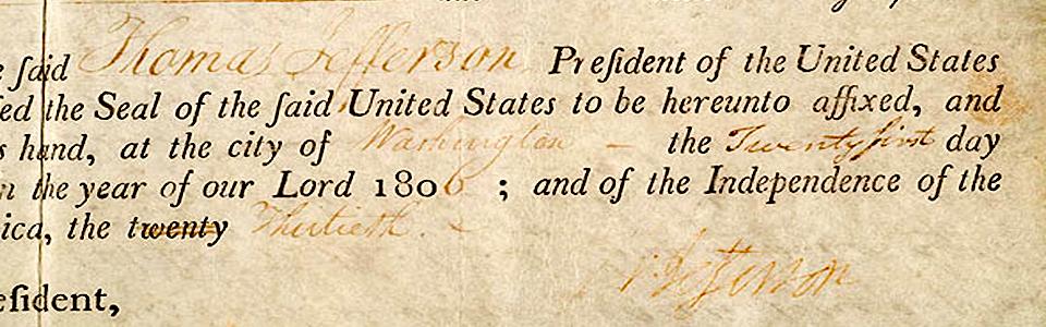 Thomas Jefferson Land Grant