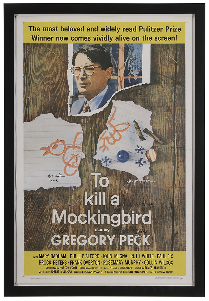 Signed To Kill a Mockingbird poster