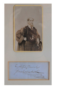 Charles Dickens' carte de visite and signature